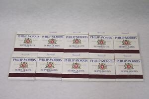 Lot de 10 pochettes de 18 allumettes publicitaire PHILIP MORRIS Vendôme Tabac