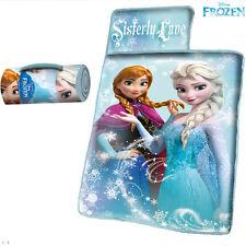 Frozen Tappetino Letto con Imbottitura + Coperta e Cuscino Campeggio Bambine