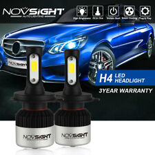 NOVSIGHT H4 9003 HB2 72W 9000LM LED Headlight Bulbs Hi/Low Beam Kit Lamps White