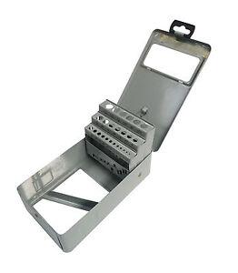 Bohrerkassette LEER für 25 Bohrer 1 - 13 mm Bohrermagazin Metallkassette grau