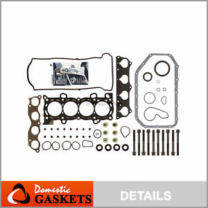 Fits 02-06 Honda CR-V 2.4L DOHC Full Gasket Set Bolts K24A1