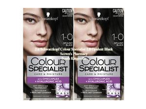 2 x Schwarzkopf Colour Specialist 1.0 Opulent Black - Up To 90% Less Breakage