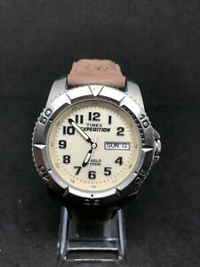 TimeX Expedition Indiglo Gents Watch Analogue With Original Brown Leather Strap