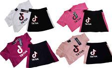 Tik Tok Kids Girls Summer 2 pieces Set Crop Top & Skirt UK STOCK FREE P&P