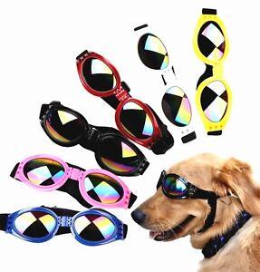 Hunde Sonnenbrille Schutzbrille Cabriobrille gegen Wind & Sonne versch. Farben