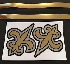 New Orleans Saints Custom Chrome Full Size Football Helmet Decals