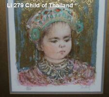 Child of Thailand Lithograph  by Edna Hibel