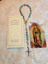NEW Hand-Made *OUR LADY OF GUADALUPE CHAPLET,* Magnesite 8mm, & red vein marble