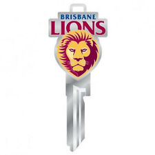 370023 BRISBANE LIONS AFL LW4 UNCUT SILVER COLOURED 3D HOUSE DOOR KEY