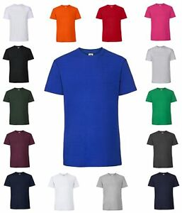 3er Pack Fruit of the Loom Ringspun Premium T, kurzarm Herren Shirt