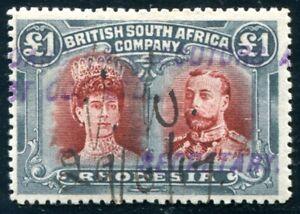 BRITISCH SÜDAFRIKA GESELSCHAFT 1910 118 gestempelt fiskalisch (C3747