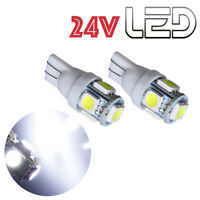 2 Ampoules W5W T10 LED 24V BLANC Camion SCANIA IVECO MAN MERCEDES VOLVO  TRUCK