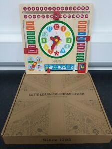 Jaques of London, Wooden Toys, My First Calendar for Kids with Learning Clock