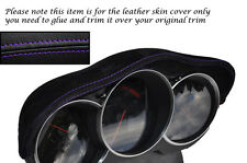 PURPLE STITCH FITS MAZDA RX8 03-12 SPEEDO GAUGE HOOD PU SUEDE SKIN COVER ONLY