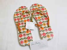Vera Bradley FOLKLORIC Flip Flops LARGE SIZE 9/10 Shoes for BEACH Pool  NWT~