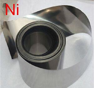 """High  Purity 99.96% Pure Nickel Ni Foil Thin Sheet 0.2 x 100 x1000 mm,  4"""" x 40"""""""