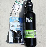 KLEAN KANTEEN Sports Water Bottle Stainless Steel 27 oz clean canteen Loop Top +