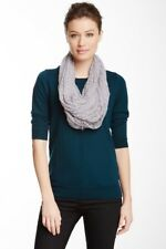 Paula Bianco Sheer Lace Infinity Scarf in SILVER - MSRP $85 - *NEW+SHIPS FREE*