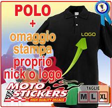 Abbigliamento - Polo Nera Fruit personalizzata con vostro nome logo