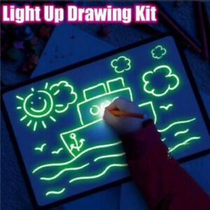 Draw With Light Drawing Board Developing Educational Toy Fun And Magic Gift Kit