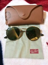 ray ban unisex classic sunglasses - golden metal black