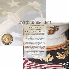 12x12 Marines Scrapbook Paper Double Sided Cardstock Military Marine