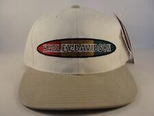 Harley Davidson Vintage Snapback Hat Cap American Needle Ivory Tan
