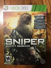 SNIPER GHOST WARRIOR LIMITED EDITION IN (Steelbook Xbox 360, 2010) Complete