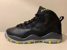 Nike Air Jordan 10 Retro GS Size 4.5Y Black Venom Green Grey 310806-033