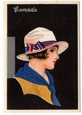 Canada Young Woman Traditional Dress Clothing 1920s Trade Ad Card