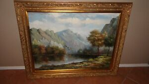 Large Oil Painting, Signed M. Jackson