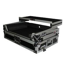 ProX Case for Pioneer DDJ SX SX2 DDJRX Silver & Black w/ Laptop Glide Wheels