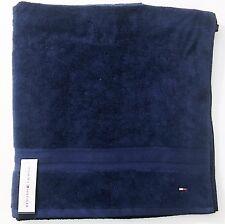 Tommy Hilfiger Classique Solide Médiéval Bleu Marine 100% Coton Plage Bain Towel