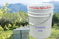 100% Pure Honey from Utah - Raw and Unfiltered - 5 Gallons 60lbs
