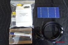 Solar Panel Kit 18 volt 72 watt.  Cells/Encapsulant/Junction/Tabbing Kit