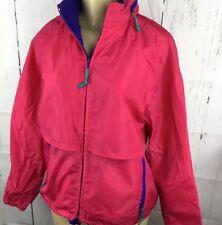 Vintage Woolrich Jacket Hooded Windbreaker Anorak Rain Coat Lightweight Women M