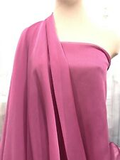 "Chiffon Two Toned Fabric Sheer Fuchsia 63"" Bridesmaid, Formal/ Curtains,Decor"