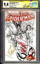 AMAZING SPIDER-MAN #1 STAN LEE CGC SS 9.4 J. SCOTT CAMPBELL STORE SKETCH VARIANT