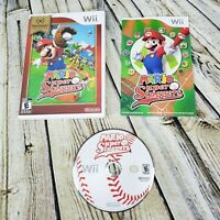 Mario Super Sluggers Baseball (Nintendo Wii, 2008) Complete w/ Manual FREE SHIP