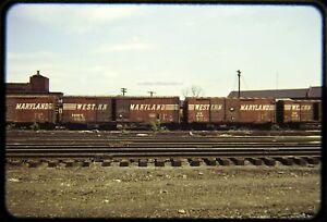 Original Railroad Slide OSLD Western Maryland WM 32020 + 30133 Box Cars 6/69