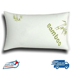 BAMBOO PILLOW AUTHENTIC MEMORY FOAM ULTRA SOFT NECK SUPPORT QUEEN SIZE ANTI-BAC