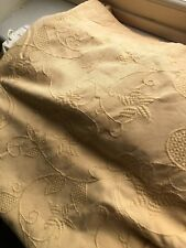 COTTON SCROLL FLORAL RELIEF  CURTAINS 50X68INCHES DROP BY CASA DI VERDI IN GOLD