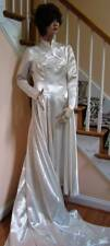 1940's Satin Wedding Bridal Gown 7 foot Train!