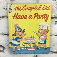 The Campbell Kids Have A Party A Rand McNally Elf Book Vintage 1958