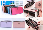 Luxury PU Leather Zipper Handbag Purse Clutch Universal Wallet Case Cover Bag