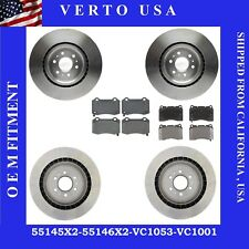 Complete Rotors, Pads Fit Cadillac CTS-V 2004-2007,STS-V 2006-2011 BremboCaliper