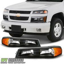 2004-2012 Chevy Colorado GMC Canyon Black Bumper Parking Lights Signal Lamps SET