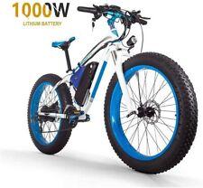 "ZLZNX Fat Tire Electric Bike Mountain Bike 26""E-Bike-Blue"