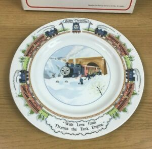 "Wedgwood Thomas The Tank Engine Christmas Plate 1983 Britt Allcroft 9.75"" Boxed"