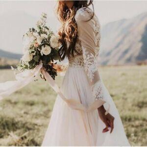 Boho Bohemian Vintage Style Hochzeitskleid Handgemacht für deine Größe! Spitze